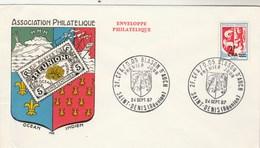 REUNION FDC Yvert 373 Blason Auch - St Denis 24/9/1967 - Léger Pli à Gauche - Réunion (1852-1975)