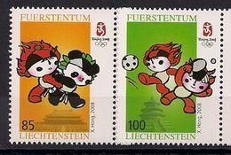 2008 Liechtenstein  Mi.  1485-6**MNH   Olympische Sommerspiele, Peking: Maskottchen - Ongebruikt