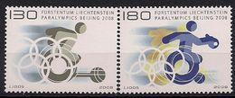 2008 Liechtenstein  Mi.  1487-8**MNH    Paralympische Sommerspiele, Peking - Ongebruikt