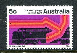Australia 1970 Sydney - Perth Standard Gauge Railway Link MNH (SG 453) - Mint Stamps
