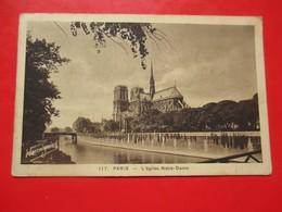 J1- France Vintage Postcard -Paris- L'eglise Notre-Dame Harmignies - Notre Dame Von Paris