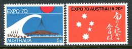 Australia 1970 World Fair, Osaka Set MNH (SG 454-455) - Mint Stamps