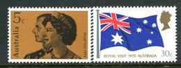 Australia 1970 Royal Visit Set MNH (SG 456-457) - Mint Stamps
