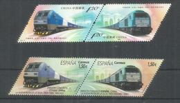 EMISION CONJUNTA ESPAÑA CHINA TREN RUTA DE LA SEDA RAILWAY JOINT ISSUE - Eisenbahnen
