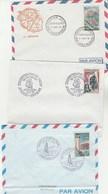 REUNION Lot 3 FDC Yvert 360 + 365 + 372 - Plis En Bas Enveloppe - Reunion Island (1852-1975)