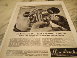 ANCIENNE  PUBLICITE CINEMATOGRAPHIQUES  LA  BEAULIEU   1963 - Autres Collections