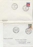 REUNION Lot 2 FDC Yvert 346B + 350A  - Plis En Bas Enveloppe - Reunion Island (1852-1975)