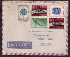 Belgique - 1967 - Lettre - Lettre Avec Timbre-poste D'iguanodon Bernissartensis - Vor- U. Frühgeschichte