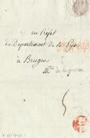 355/29 - Lettre Précurseur An 9 - Ministère De La Guerre , Bureau Des Pensions , Vers BRUGES - Affranchi Par Etat - 1801-1848: Precursors XIX