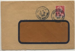Cachet ROUEN GARE SEINE-MARITIME Type 04 - LSC 1955 - Railway Post