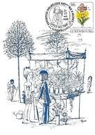 21-23.5.1988  -  VALENCE - Les Amoureux Et Les Fleurs De R. Peynet - Cartes Maximum