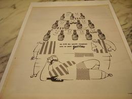 ANCIENNE PUBLICITE QUART  PERRIER   1963 - Perrier