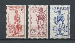 AEF 1941  N° 87/89 **  Neufs MNH  Superbes C 12,60 € Défense De L' Empire Artilleur Infanterie Tirailleur - A.E.F. (1936-1958)