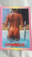 CPSM PIN UP FEMME NUE NU DE DOS SORTANT DE LA PISCINE CA MOUILLE ED AS PHOTO VLOO - Pin-Ups