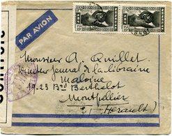 SENEGAL LETTRE PAR AVION CENSUREE POUR LA FRANCE - Sénégal (1887-1944)
