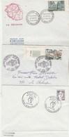 REUNION Lot 6 FDC  Avec  Plis En Bas  Enveloppe - Reunion Island (1852-1975)