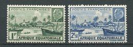 AEF 1941  N° 90/91 ** Neufs MNH  Superbes C 2,80 € Libreville Pétain Bateaux Boats Ships Transports - A.E.F. (1936-1958)