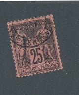 FRANCE - N°YT 91 OBLITERE CAD LYON LES TERREAUX - COTE : 30€ - - 1876-1898 Sage (Type II)