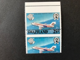 Swaziland Manned Flight 25c Perf Shift Pair Mint Condition - Swaziland (1968-...)