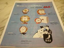 ANCIENNE PUBLICITE VOS COMMUNIANTS ONT CHOISI   JAZ 1963 - Joyas & Relojería
