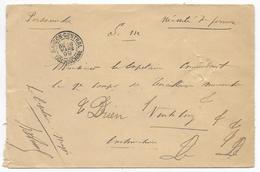 COCHINCHINE - 1899 - ENVELOPPE FM De SAÏGON => TIRAILLEURS ANNAMITES De VINHLONG - Indochina (1889-1945)