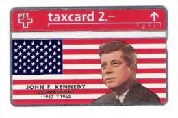 Schweiz  - John F. Kennedy - Backside Flag - 2,- PTT - 322L - Mint - 2 Scans - Schweiz