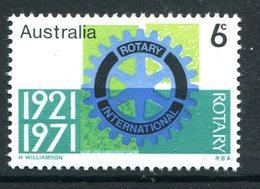 Australia 1971 50th Anniversary Of Rotary International In Australia MNH (SG 488) - Mint Stamps