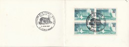 REUNION FDC Yvert 376 Bloc De 4 Sur Carte Souvenir 1967 - Format Plié : 9 X 12 Mm - Illustration 2 - Covers & Documents