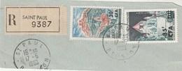 REUNION Yvert 360 Et 361 Sur Fragment Lettre Recommandée Saint Paul 17/6/1966 - Reunion Island (1852-1975)