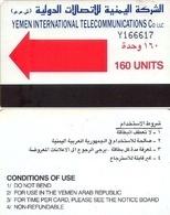 TARJETA TELEFONICA DE YEMEN. (008) - Yemen