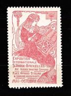 V-505 Exposition Internationale Vignette S'Josse - Bruxelles 1908 MNH** - Universal Expositions
