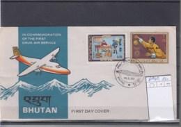 Bhutan Michel Cat.No. FDC 810/811 Druk Air - Bhoutan