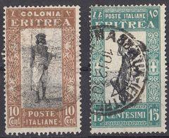 ERITREA (colonia Italiana) - 1930 -  Lotto Di 2 Valori Usati: Yvert 146 E 147. - Eritrea