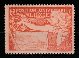 V-511 Exposition Internationale Vignette Liege 1905 MNH** - 1905 – Liège (Belgium)