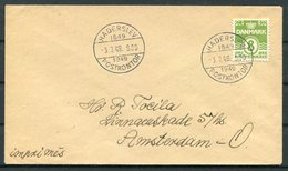 1949 Denmark HADERSLEV POSTKONTOR 1649-1949 3.7.49. Cover - Briefe U. Dokumente
