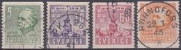 SUECIA 1941 Nº 283/286 USADO - Gebraucht