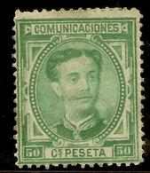 España Edifil 179* Mh  50 Céntimos Verde  Corona Y Alfonso XII  1876   NL1570 - Nuevos