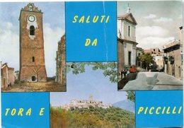 TORA E PICCILLI (CE) M. 343 S.l.m. - Panorama - Foto Dell'antica Torre Prima Del Terremoto Del 13.1.1915 (m. 36) - Altre Città