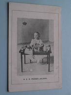 H. K. H. Prinses JULIANA ( NEDERLAND / Holland ) Anno 1911 ( Zie Foto's ) UItg. J P Nauta Velsen ! - Familias Reales