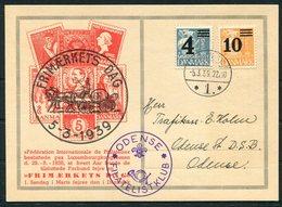 1939 Denmark Frimaerkets Dag Odense Filatelistklub Postcard. - Covers & Documents
