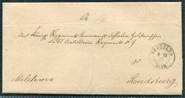 1871 Denmark Segeberg Military Official Freepost Entire - Rendsberg. Schleswig-Holstein - 1851-63 (Frederik VII)