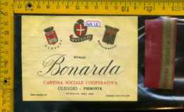 Etichetta Vino Liquore Bonarda Cantina Sociale Oleggio-Piemonte - Sonstige