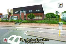 Set 12 Cartes Postales, Transport, Belgium, Erpe Bus Stations - Autobus & Pullman