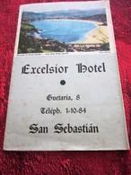 1950 Guía Turística Guía Turística EXCELSIOR HOTEL SAN SEBASTIAN  Dépliant Guide Plans Touristiques - Folletos Turísticos