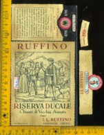 Etichetta Vino Liquore Chianti Riserva Ducale 1959 Ruffino-Pontassieve FI - Etiketten