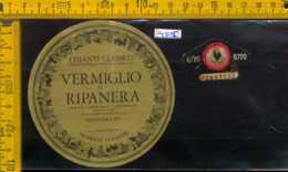 Etichetta Vino Liquore Chianti Vermigliodi Ripanera 1975-S. Casciano Val Di Pesa - Etiketten