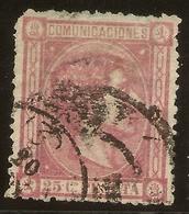 España Edifil 166 (º) 25 Céntimos Rosa  Alfonso XII  1875   NL1555 - Usados