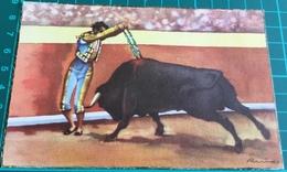 Bullfighting ~ Corrida De Toros ~ Par De Banderillas Al Hilo De Las Tablas ~ Matadors ~ Bull - Corrida