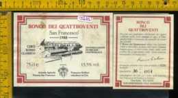 Etichetta Vino Liquore Ronco Dei Quattroventi 1988 S. Francesco- Cirò KR - Etichette