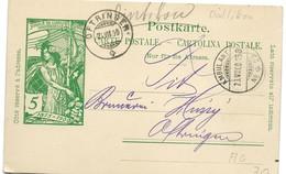 207 - 25 - Entier Postal UPU Avec Cachets Ambulant Et Oftringen 1900 - Postwaardestukken